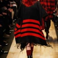 Ponchos Come Back In Style At Paris Fashion Show