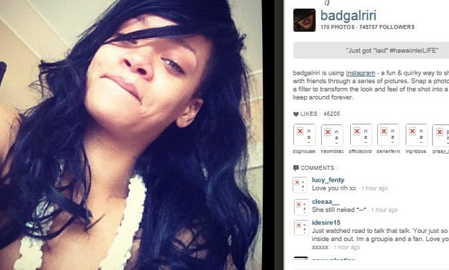 Rihanna Shows She Got 'Laid' In New Instagram Photo