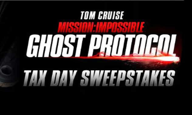 --CLOSED--MI: GHOST PROTOCOL DVD Release/Tax Day Sweepstakes--CLOSED-- 2