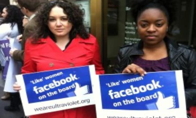 Facebook Protesters Demand Social Network Add Women To All-Male Board