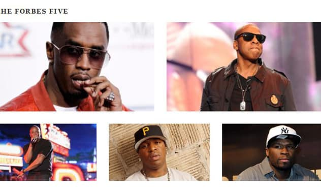 The Forbes Five: Hip-Hop's Wealthiest Artists 2012