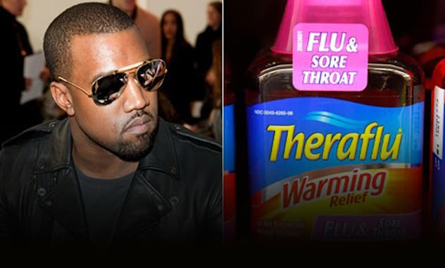 "Kanye West Sick of ""Theraflu,"" Changes Song Title to ""Way Too Cold"""