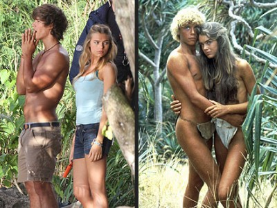Indiana Evans Covers Up in Blue Lagoon Remake