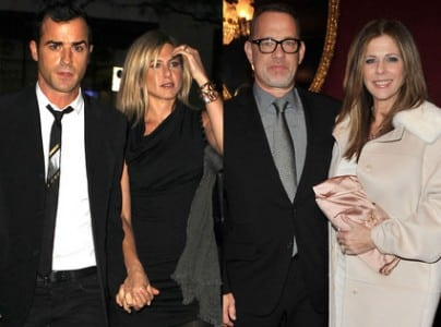 Jennifer Aniston and Justin Theroux Double-Date With...Tom Hanks and Rita Wilson?!