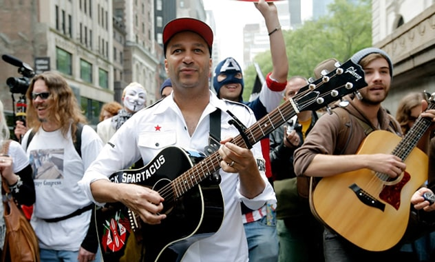 Tom Morello At Occupy May Day In Union Square