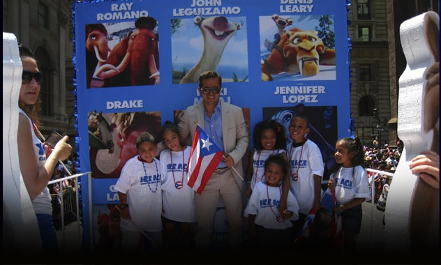 John Leguizamo from the upcoming film ICE AGE: CONTINENTAL DRIFT, co-hosted the 2012 National Puerto Rican Day Parade 2