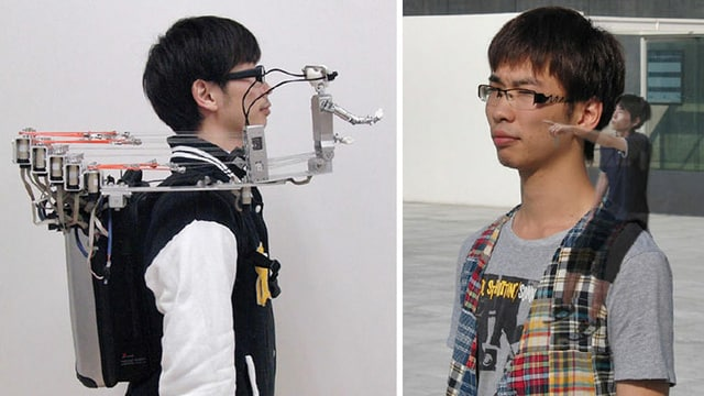 Japanese Shoulder Robot MH-2 Connects Users With Friends At Home