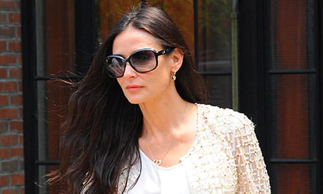 Demi Moore Laughs the Night Away with Pals over Dinner