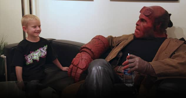 ron perlman-zach hellboy make a wish Featured