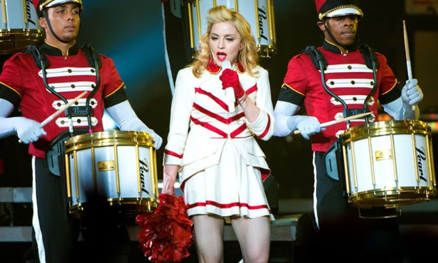Madonna's U.S. Tour Stop's Message: 'Don't Get Fat And Lazy,' Respect Democracy