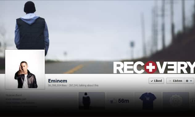 Eminem & Facebook: Rapper Tops Lady Gaga & Rihanna To Reach 60 Million Facebook Fans  1