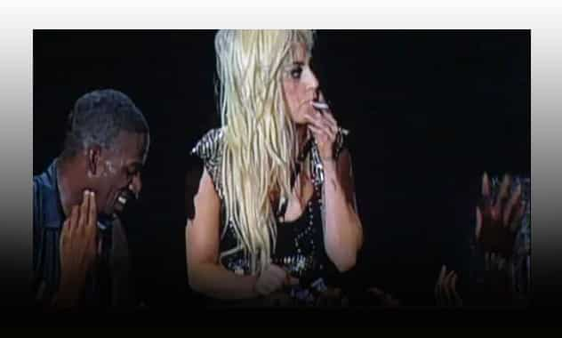 Lady Gaga Smokes Joint on Amsterdam Stage 1