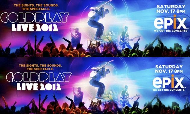 EPIX To Premiere Coldplay Live 2012 Tour Film