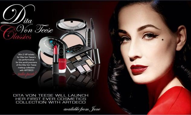8ad195fde9 Dita Von Teese debuts cosmetics
