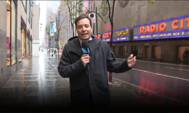 Hurricane Sandy Couldn't Stop Jimmy Fallon 2