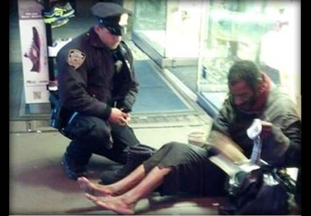 Larry DePrimo, NYPD Cop, Buys Homeless Man Boots
