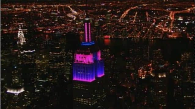Empire State Building Gives Gift To New York City -- And The World -- With Its First-Ever LED Tower Light Show Featuring Alicia Keys