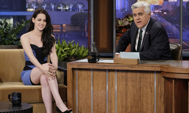 Kristen Stewart Talks 'Twilight: Breaking Dawn' Twist Ending With Jay Leno