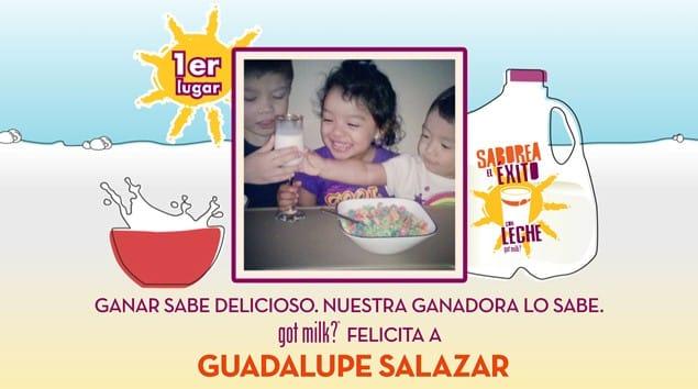 """got milk? And Univision Announce The Winners Of """"Saborea El Exito Con Leche"""""""