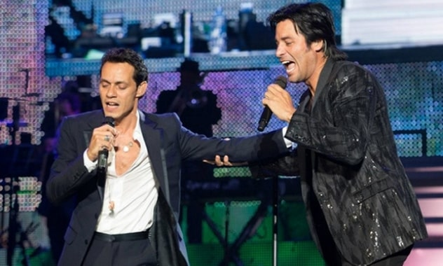 Marc Anthony & Chayanne Perform Free Concert In Mexico