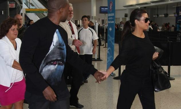 Kim Kardashian & Kanye West Hassled At JFK By Skipping Security Check