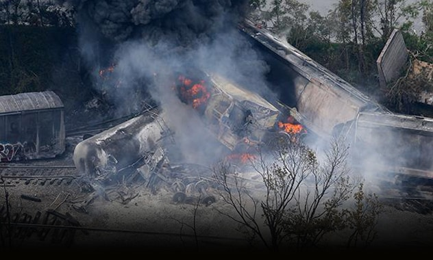 Train derailment and explosion in Maryland  2