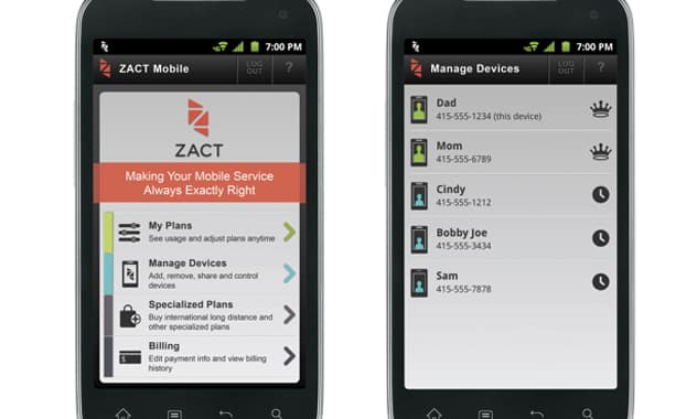Zact Debuts Industry's First Smart Mobile Service 4