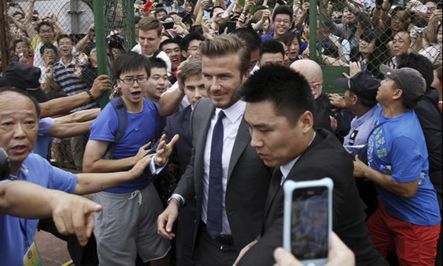 David Beckham Causes Stampede of Fans in China, 7 People Injured