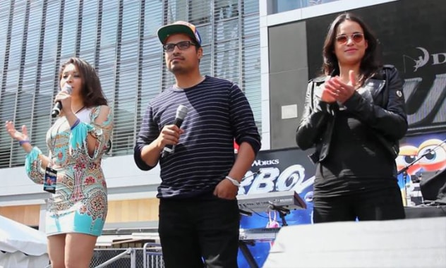 Snoop Dogg, Michelle Rodriguez and Michael Peña Surprise Fans at E3 - TURBO 1