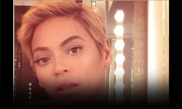 Beyoncé's New 'Do, Singer Shows Off Pixie Cut With Blond Hair 2