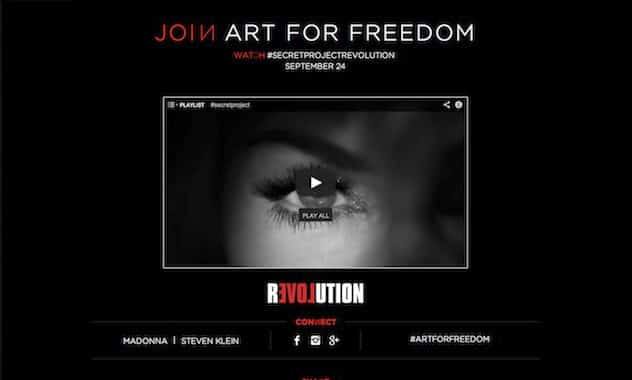 Madonna's Secret Project To Debut Sept. 24, Launch Global Endeavor Called Art For Freedom