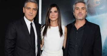 George Clooney,Sandra Bullock and Alfonso Cuaron