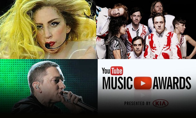 First YouTube Music Awards To Feature Lady Gaga, Arcade Fire, Eminem 1