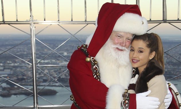 Ariana Grande Duets With Liz Gillies For 'Santa Baby'