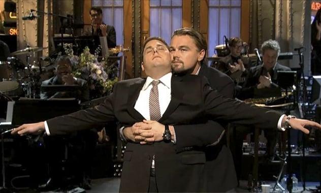Leonardo DiCaprio's Impromptu Visit During Jonah Hill's SNL Monologue