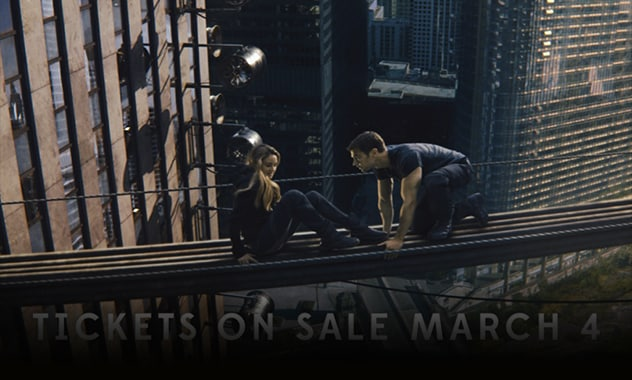 ADVANCE TICKETS FOR SUMMIT ENTERTAINMENT'S DIVERGENT ON SALE MARCH 4th   1