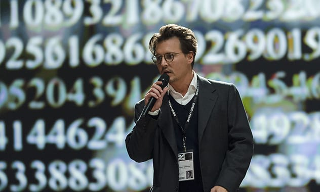 Johnny Depp owns the system in 'Transcendence'