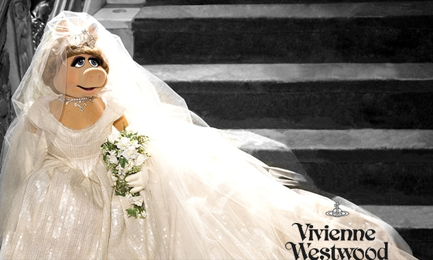 Vivienne Westwood Couture Wedding Dress Designed Exclusively for the Divine Diva, Miss Piggy