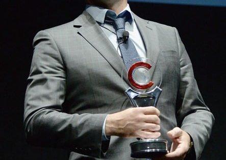 MILLION DOLLAR ARM Event At Cinemacon, Jon Hamm Award Of Excellence In Acting From Walt Disney Studios 3