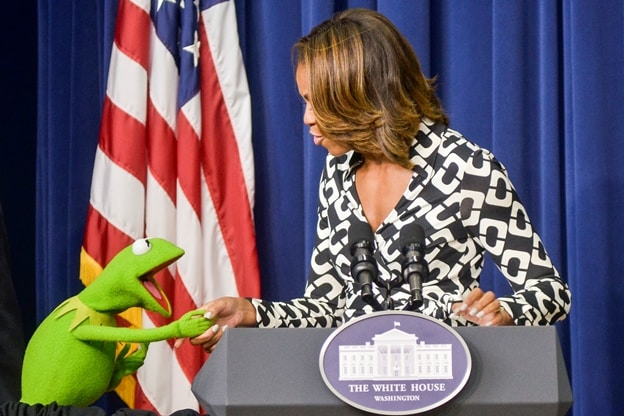 KERMIT THE FROG And First Lady MICHELLE OBAMA  2