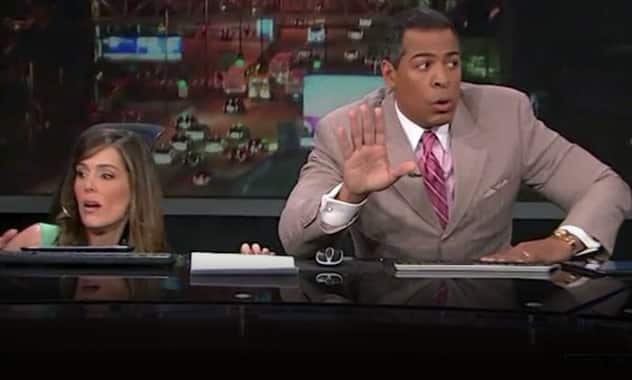 On-Air News Broadcast Gets Interrupted By EarthQuake: Viral Video 1