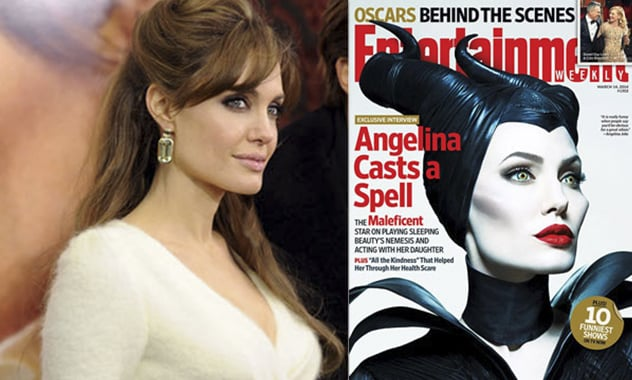 Angelina as Maleficent  Graces Entertainment Weekly and How Her Kids Reacted To Her Role