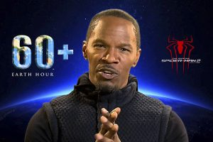 "JAMIE FOXX JOINS HIS CO-STARS OF ""THE AMAZING SPIDER-MAN 2"" AND EARTH HOUR SUPER HEROES IN BLUE REVOLUTION 1"