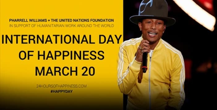 Pharrell, UN Celebrate International Day of Happiness 4