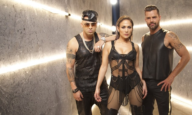 "Jennifer Lopez and Ricky Martin Join Up In Wisin's Hot New Video ""Adrenalina"""