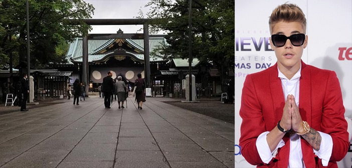 Beiber does it Again! Singer Offends Koreans and Chinese By Visiting a War Crime Shrine 2