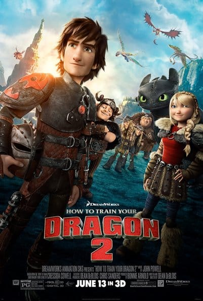 how ot train your dragon 2 poster
