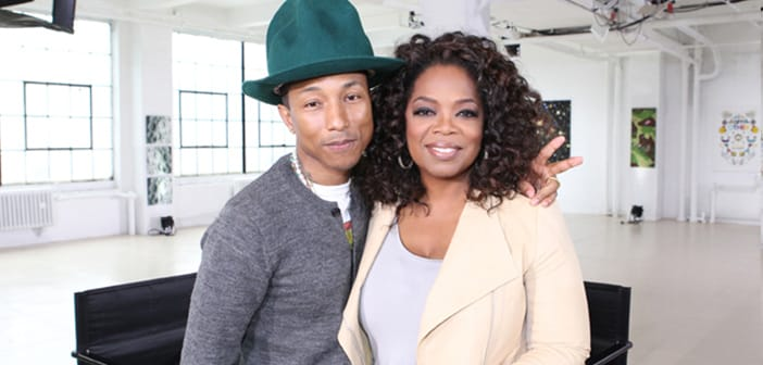 Pharrel Is Moved To Tears As Oprah Shows Him Just How Many People He's Inspired With 'Happy' 2