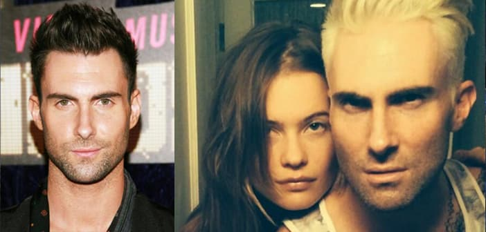 Adam Levine Goes With New Blond Look
