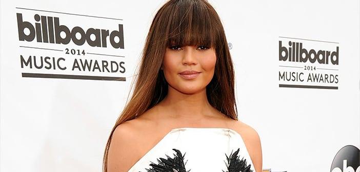 Chrissy Teigen turns heads Strange Rorschach Dress at Billboard Music Awards  1